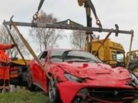 авария ferrari f12 berlinetta