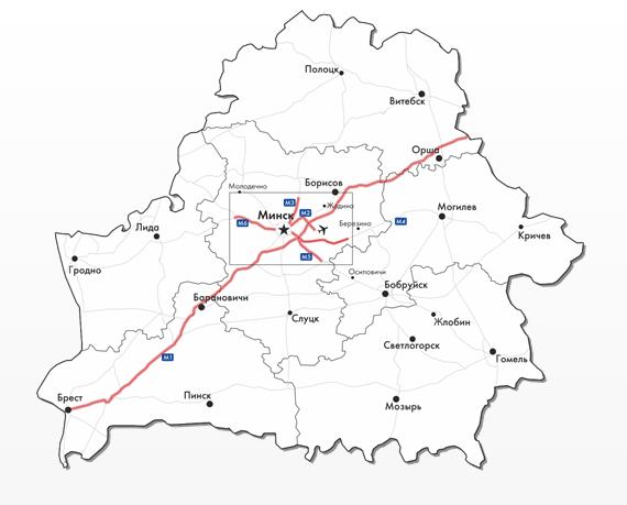 Карта платных дорог BelToll