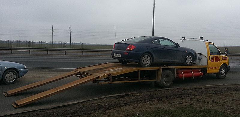 Эвакуация легковых автомобилей в Минске