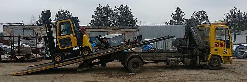 Перевозка спецтехники в Минске