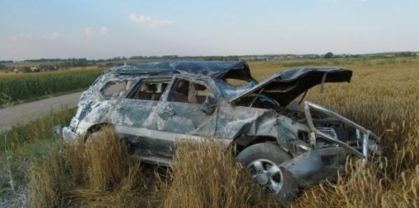 Toyota Land Cruiser вылетел в кювет