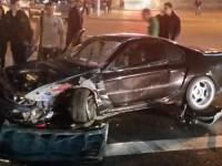 Авария автомобилей Honda и Mercedes-Benz на Немиге