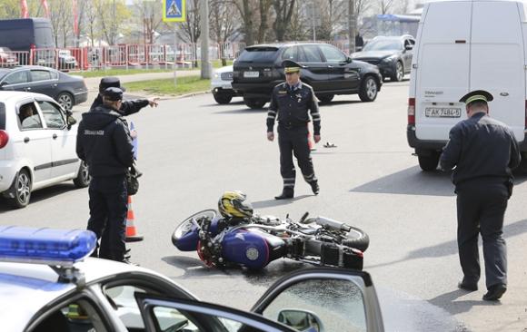 Авария Honda CBR и BMW Лещинского