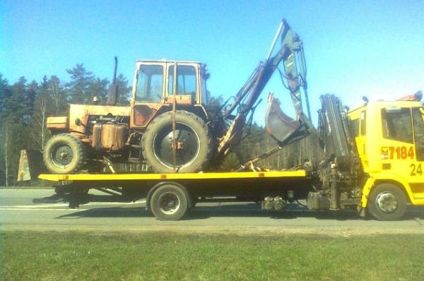 доставка трактора с навесным оборудованием