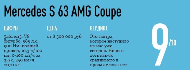 оценка mercedes s coupe 63 amg