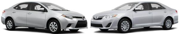 Toyota Camry и Toyota Corolla