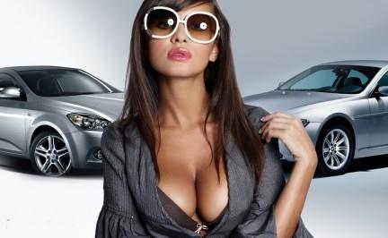 выбор автомобиля девушками