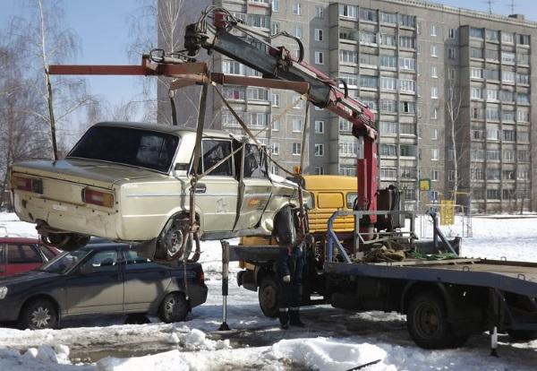 эвакуация брошенных автомобилей