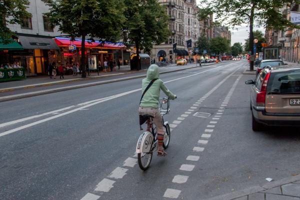 выделенная полоса под велосипеды