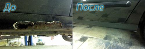 ремонт порогов автомобилей