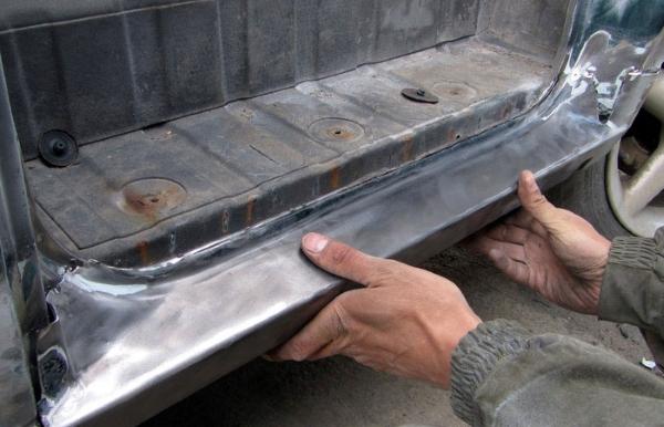 замена порогов автомобиля в Минске